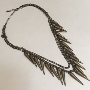 Jewelry - Gold Spike and Chain Necklace
